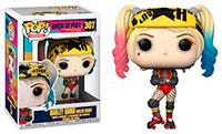 Funko-Pop-Birds-of-Prey-Figures-307-Harley-Quinn-Roller-Derby
