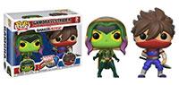 Funko-Pop-Guardians-of-the-Galaxy-Marvel-vs.-Capcom-2-Pack-Gamora-vs.-Strider