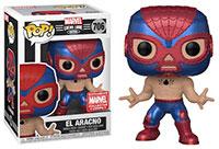 Funko-Pop-Marvel-Lucha-Libre-706-El-Aracno-Metallic-Marvel-Collector-Corps-MCC-Exclusive