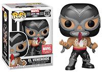 Funko-Pop-Marvel-Lucha-Libre-707-El-Venenoide-Metallic-Marvel-Collector-Corps-MCC-Exclusive