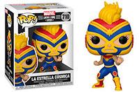 Funko-Pop-Marvel-Lucha-Libre-710-La-Estrella-Cosmica-Captain-Marvel
