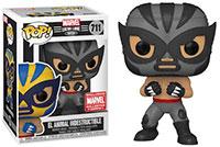Funko-Pop-Marvel-Lucha-Libre-711-El-Animal-Indestructible-Gray-Marvel-Collector-Corps-Exclusive