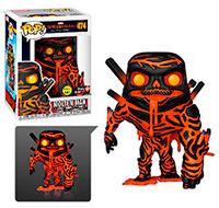 Funko-Pop-Spider-Man-Lejos-de-Casa-Molten-Man-GITD-474