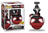 Funko-Pop-Spider-Man-Miles-Morales-Video-Game-Figures-GamerVerse-774-Miles-Morales-Winter-Suit-Upside-down-Hot-Topic-Exclusive
