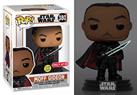 Funko-Pop-Star-Wars-The-Mandalorian-380-Moff-Gideon-GITD-Darksaber-Target-T-Shirt-Bundle-Exclusive