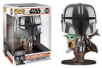 Funko-Pop-Star-Wars-The-Mandalorian-Figures-The-Mandalorian-with-The-Child-in-Chrome-Armor-10-Super-Sized-380